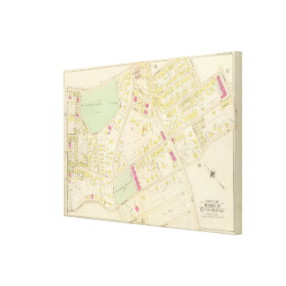 Map of Boston 25 Canvas Print