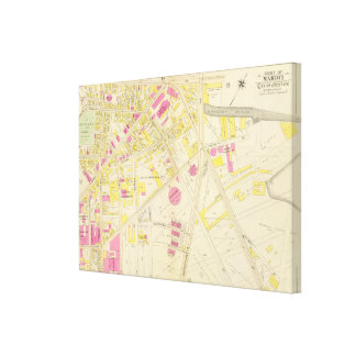 Map of Boston 29 Canvas Print