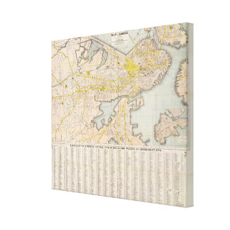 Map Of Boston 2 Canvas Print