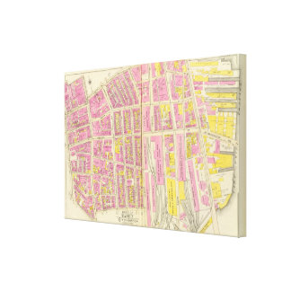 Map of Boston 3 Canvas Print