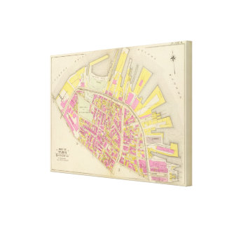 Map of Boston 4 Canvas Print