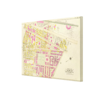 Map of Boston 5 Canvas Print