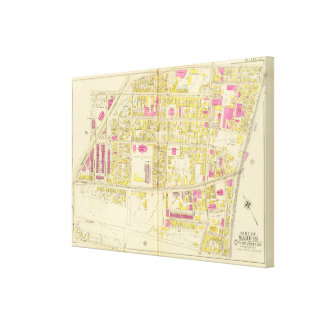 Map of Boston 6 Canvas Print