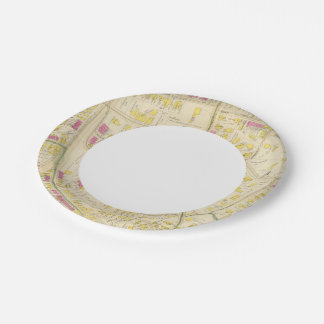 Map of Boston 7 7 Inch Paper Plate