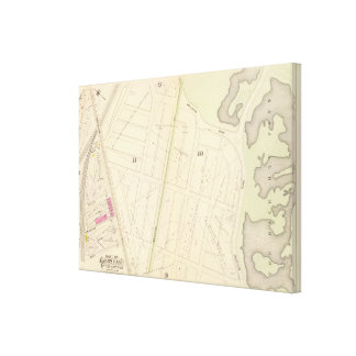 Map of Boston 7 Canvas Print