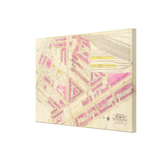 Map of Boston 8 Canvas Print