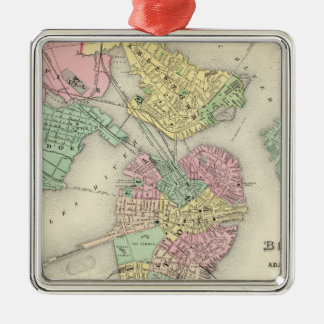 Map Of Boston And Adjacent Cities Christmas Ornament
