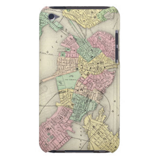Map Of Boston And Adjacent Cities iPod Case-Mate Case
