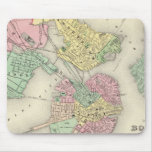 Map Of Boston And Adjacent Cities Mousemats
