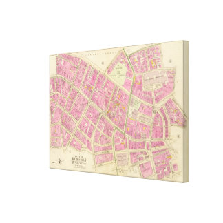 Map of Boston Canvas Print