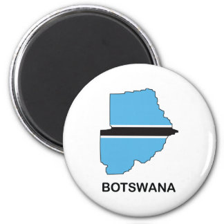 Map Of Botswana 6 Cm Round Magnet