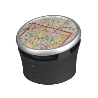 Map of Branch County, Michigan Bluetooth Speaker