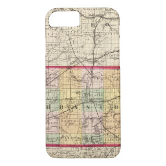 Map of Branch County, Michigan iPhone 8/7 Case
