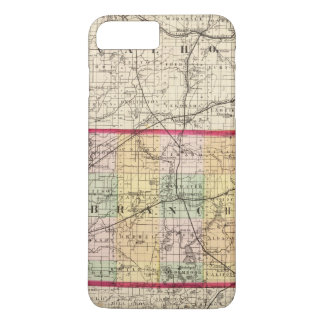 Map of Branch County, Michigan iPhone 8 Plus/7 Plus Case