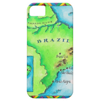 Map of Brazil Barely There iPhone 5 Case