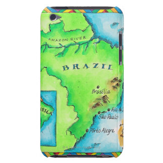 Map of Brazil Barely There iPod Case