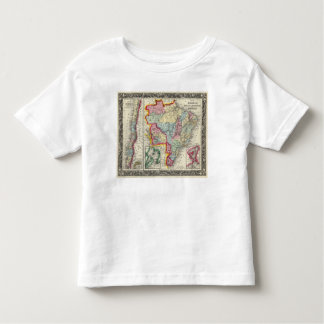 Map Of Brazil, Bolivia, Paraguay, And Uruguay Toddler T-Shirt