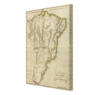 Map of Brazil Canvas Print