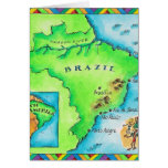 Map of Brazil Greeting Card