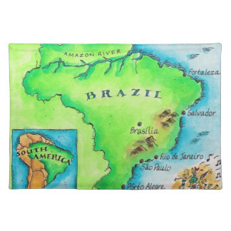 Map of Brazil Placemat