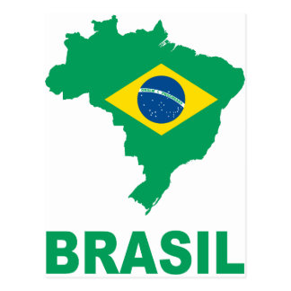 Map Of Brazil Postcard