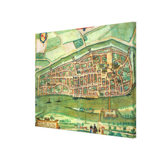 Map of Bremen, from 'Civitates Orbis Terrarum' by Canvas Print