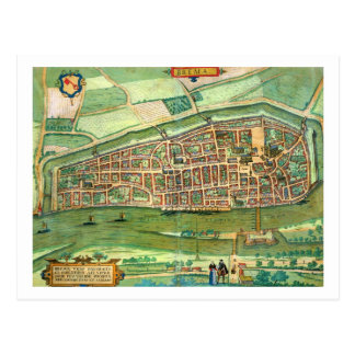 Map of Bremen, from 'Civitates Orbis Terrarum' by Post Card