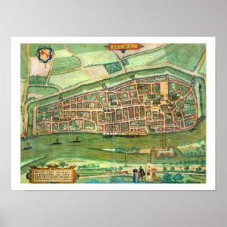 Map of Bremen, from 'Civitates Orbis Terrarum' by Poster