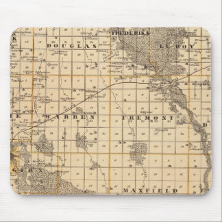 Map of Bremer County Mouse Mat
