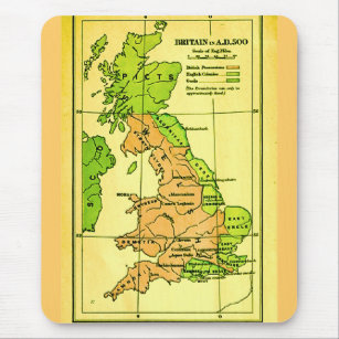 Map Of Uk 500 Ad.Ancient Map Mouse Mats Mouse Pads Zazzle Uk
