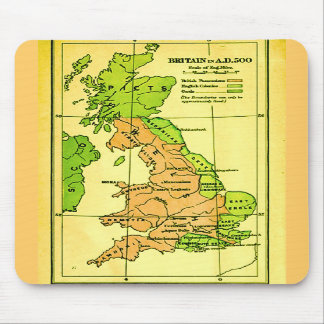 Map of Britain A.D. 500 Mouse Pad