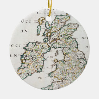 Map of Britain and Ireland, published Paris 1640 ( Christmas Ornament