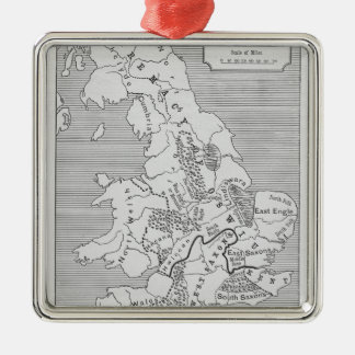Map of Britain produced by Stanford's Silver-Colored Square Decoration