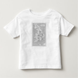 Map of Britain produced by Stanford's Tee Shirts