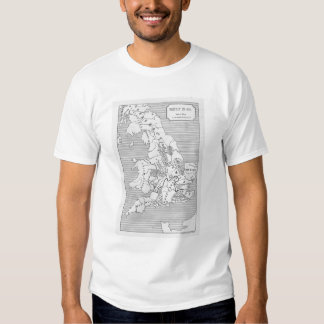 Map of Britain produced by Stanford's Tshirts