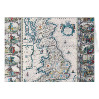 Map of British Isles 2 Card