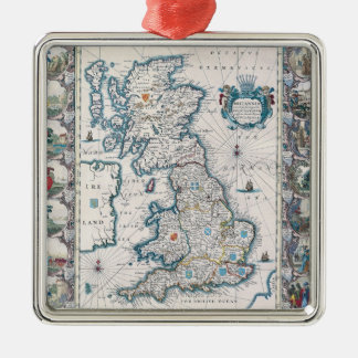 Map of British Isles 2 Christmas Ornament