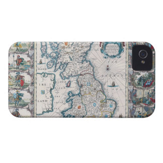 Map of British Isles 2 iPhone 4 Case-Mate Cases