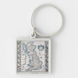 Map of British Isles 2 Keychains