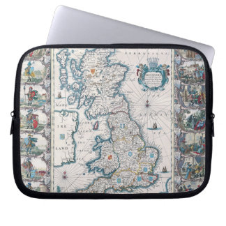 Map of British Isles 2 Laptop Sleeve