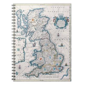 Map of British Isles 2 Notebook