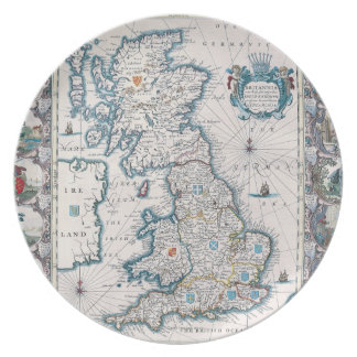 Map of British Isles 2 Plate