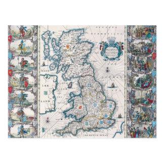 Map of British Isles 2 Postcard