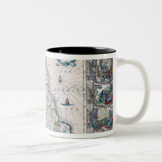 Map of British Isles 2 Two-Tone Coffee Mug