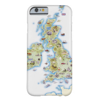 Map of British Isles Barely There iPhone 6 Case
