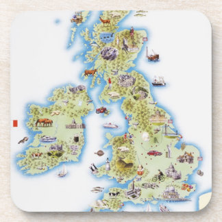 Map of British Isles Coaster