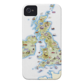 Map of British Isles iPhone 4 Covers