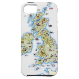 Map of British Isles iPhone 5 Cover