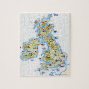 Map of British Isles Jigsaw Puzzle