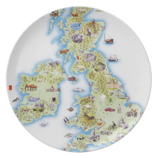 Map of British Isles Plate